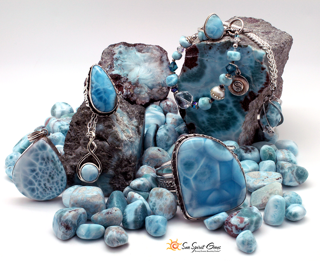 Larimar Jewelry by Sun Spirit Gems