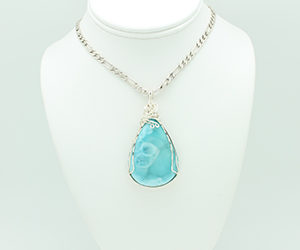 Larimar Necklace 3297